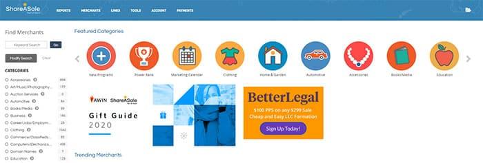 Programme de marketing d'affiliation de ShareASale